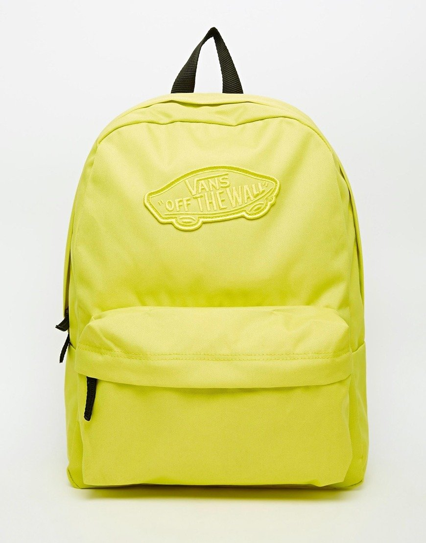 116dc68b08 Vans Realm Backpack In Yellow - Yellow - Asos