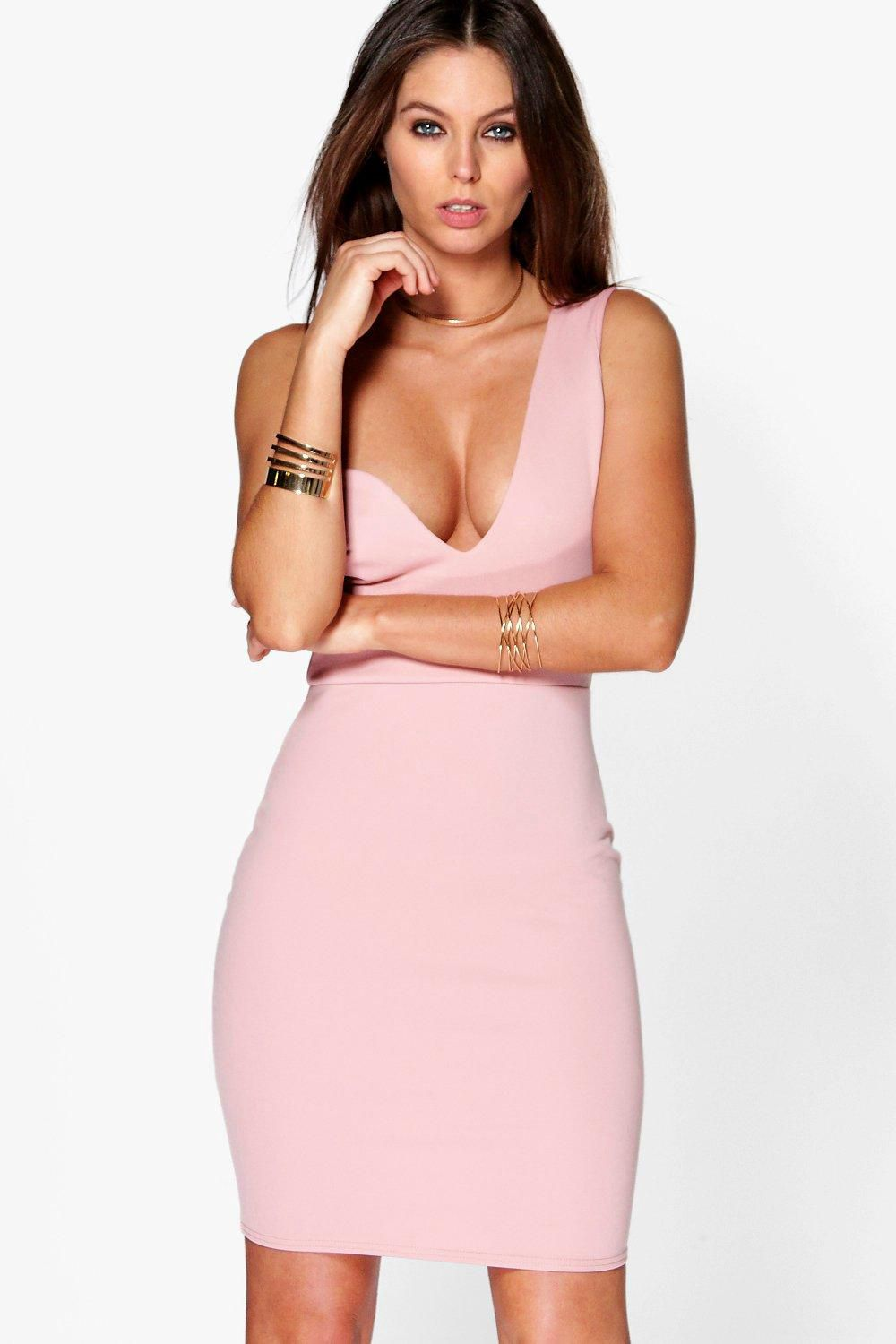 f4b7ffe52f Ina One Shoulder Asymmetric Plunge Dress - Boohoo