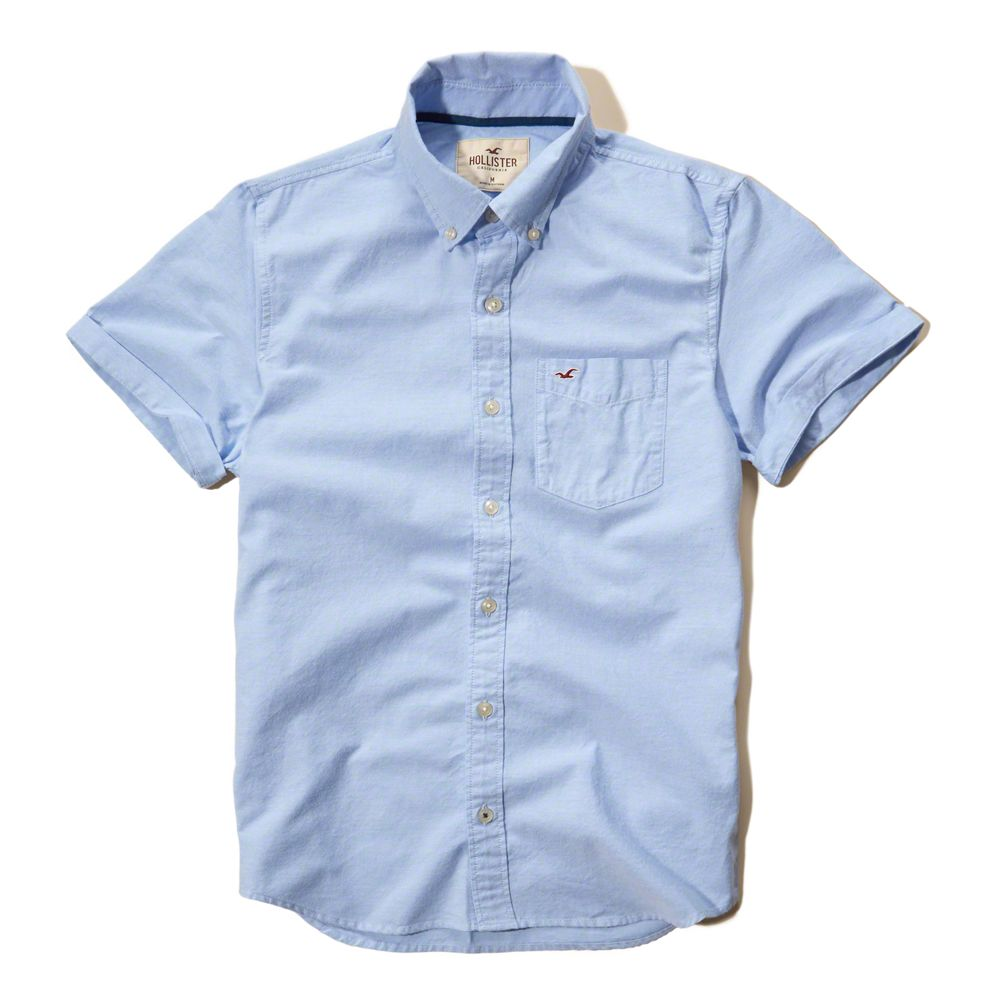 Solid Oxford Shirt - Hollister  2551f787082c2