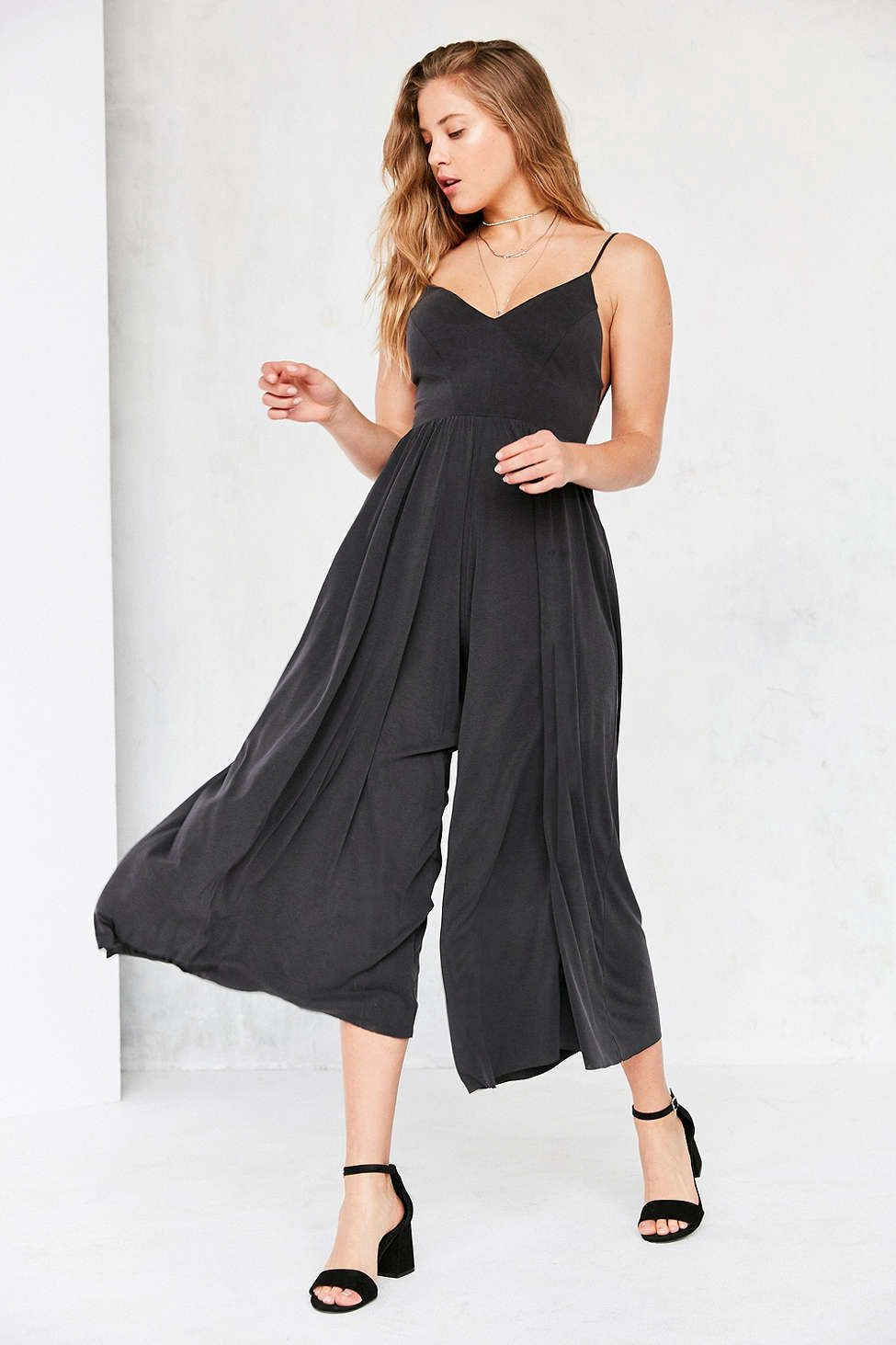 a0fcf12fd1d9 Silence + Noise Molly Cupro Culotte Jumpsuit - Urban Outfitters