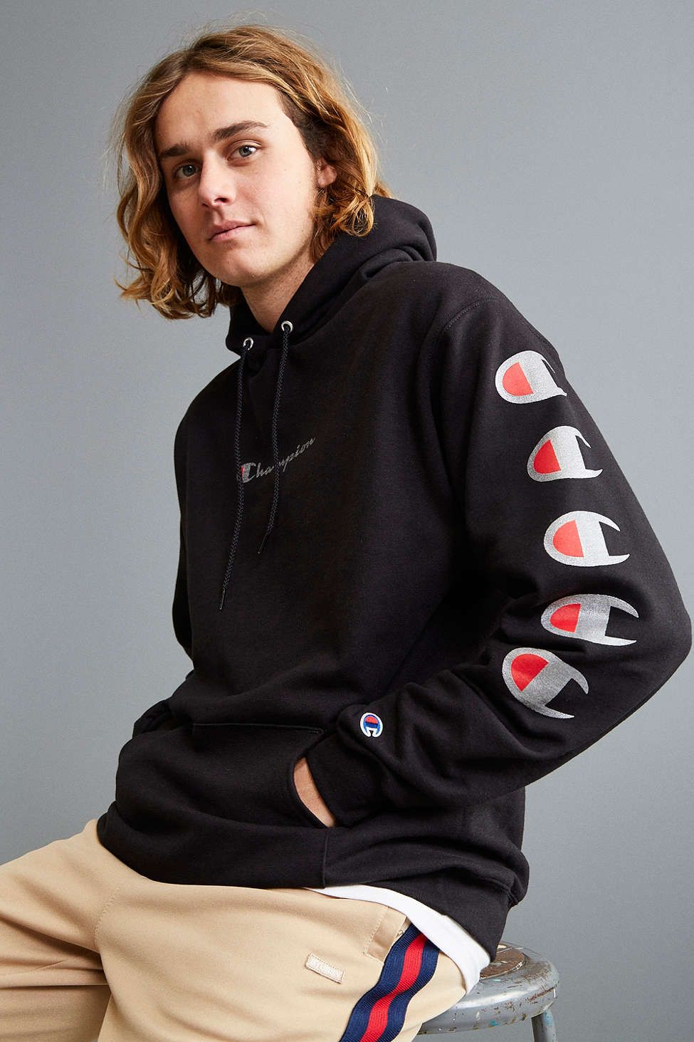 6a7541e2f80 Champion Repeat Eco Hoodie Sweatshirt - Urban Outfitters