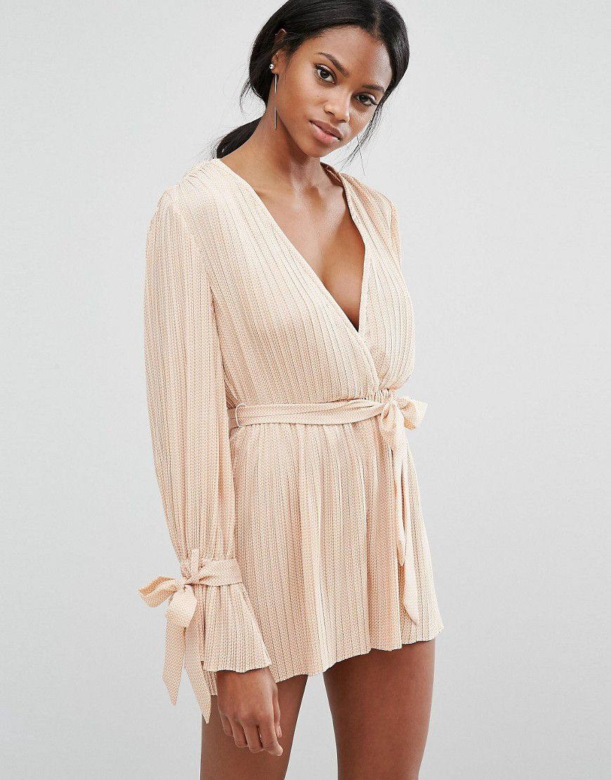 dcbf9c19ce2 C Meo Collective Unstoppable Playsuit - Tan - Asos