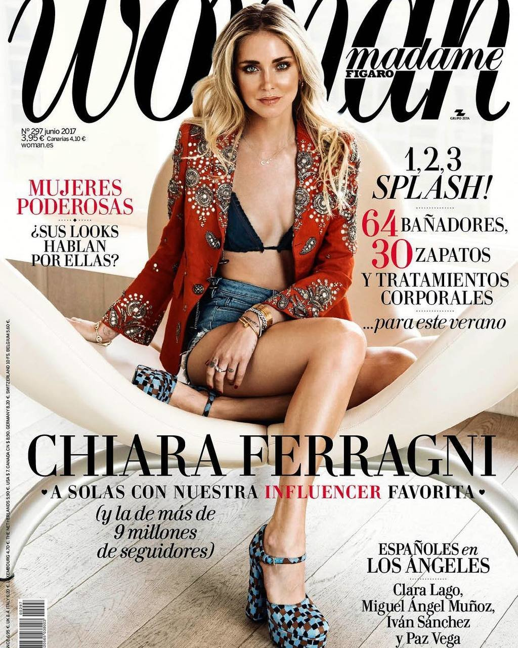 New cover is out 🤗 @woman_es #TheBlondeSaladNeverStops image