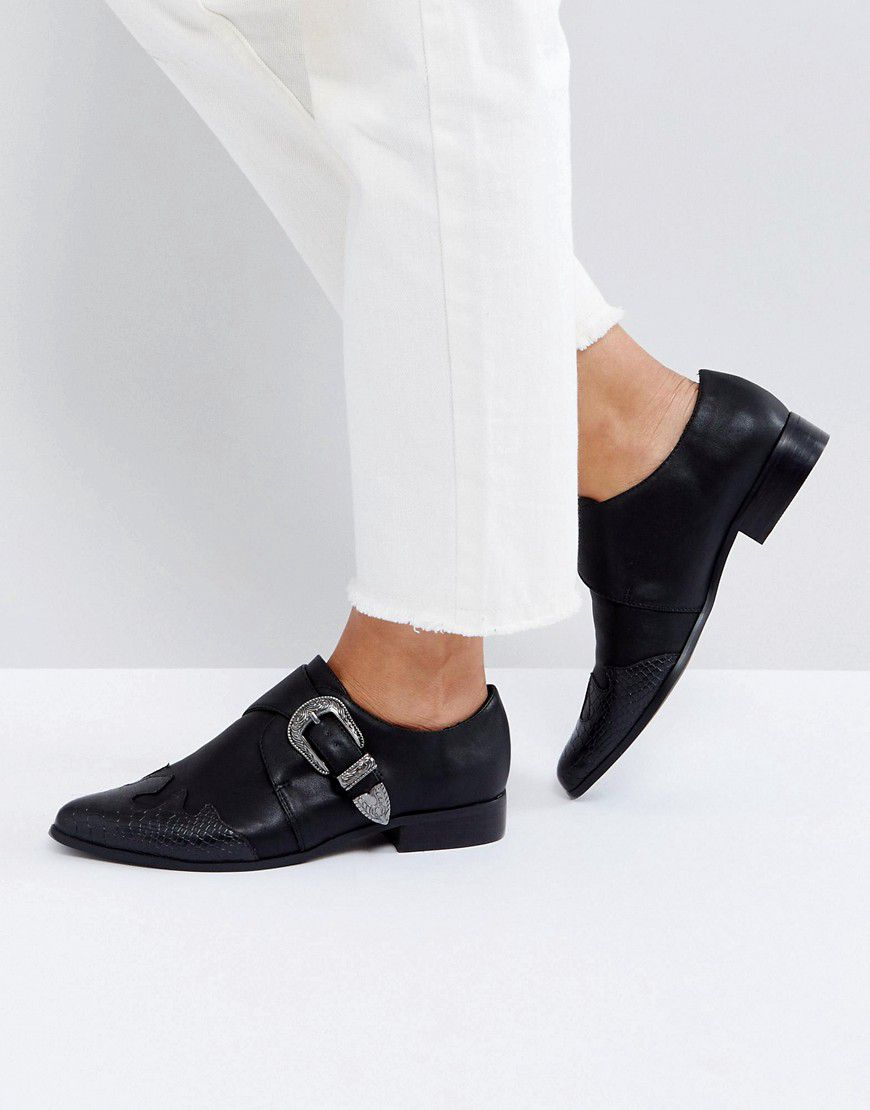 be6072448cf Asos Mudslide Western Pointed Flat Shoes - Asos