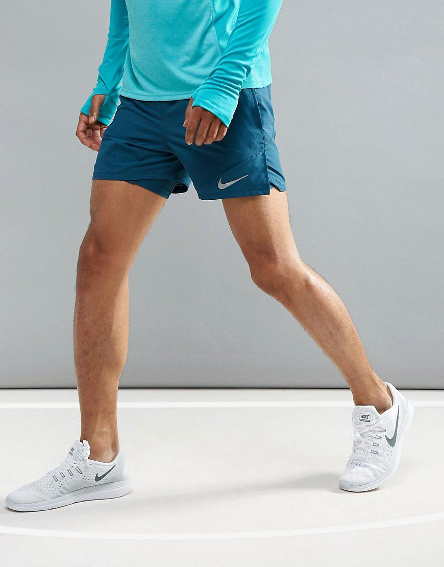 0a1e2d8aef421 Nike Running Flex Distance 2-In-1 5 Shorts In Blue 904221-425 - Asos ...