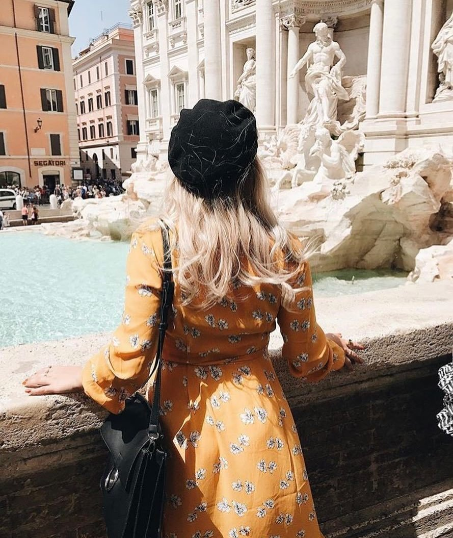 Good morning weekend 💛 Darling @bymatiilda wearing the ultimate wrap dress⚡️ Linnea wrap dress (299SEK/29.95EUR) is available in several prints now✨ #ginatricot #ginamyway image