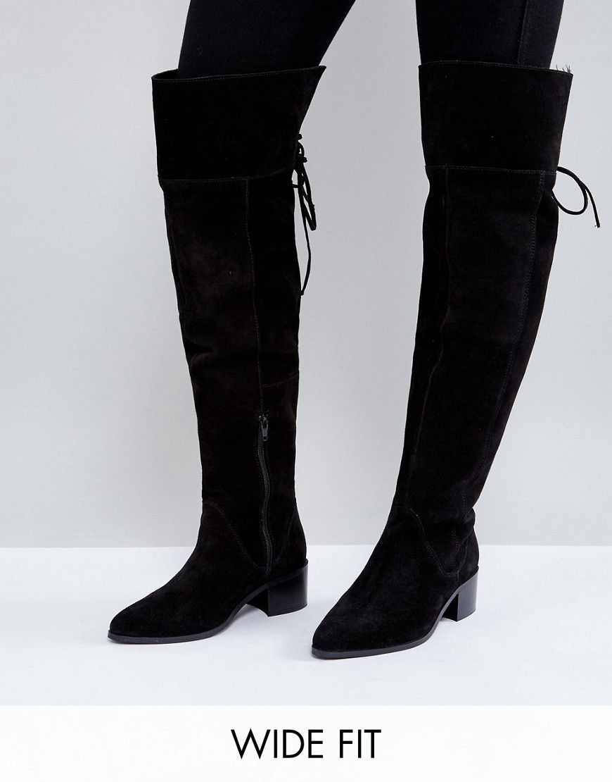 25fbe6a66ebd Asos Kobra Wide Fit Suede Over The Knee Boots - Asos