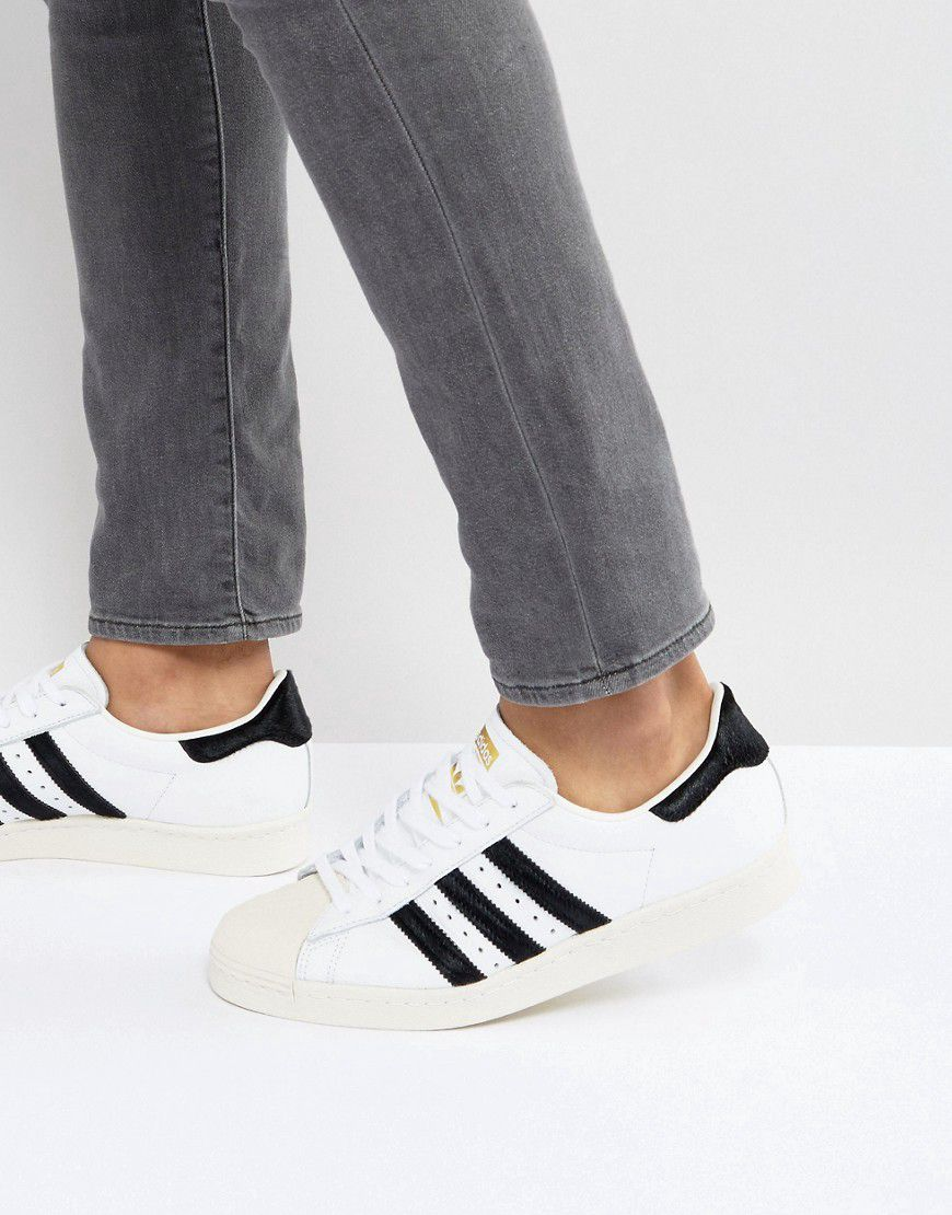 huge discount f1a13 9418b Adidas Originals Superstar 80s Trainers In White - Asos  rev