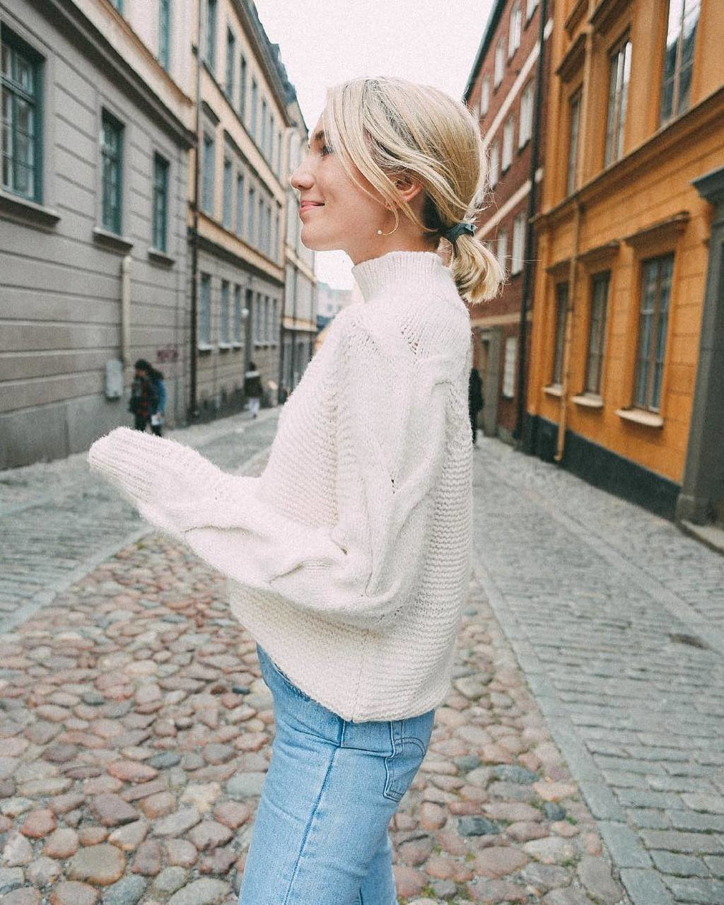 The distance between your dreams and reality is called action 🌈⚡️ @josefindahlberg.se wearing new arrival Lucy sweater, shop link in bio #bikboklife #bikbok image