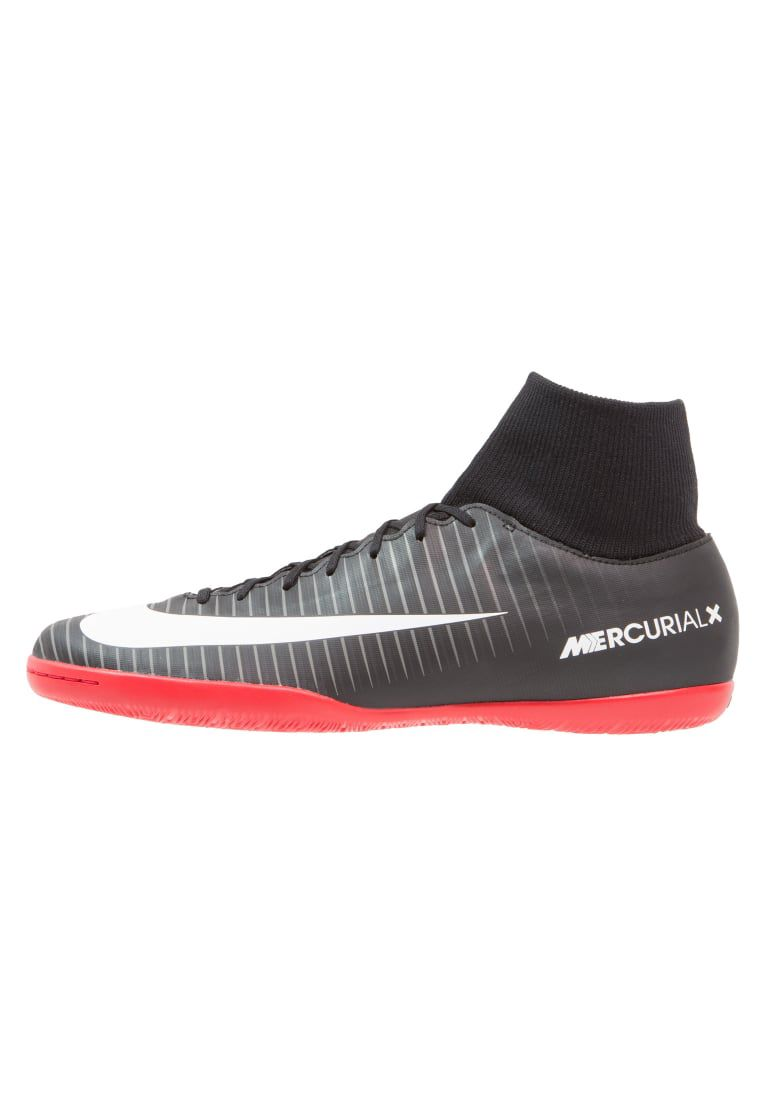 Mercurial X Victory Vi Df Ic - Fotbollsskor Inomhusskor - Black White Dark  Grey University Red - Zalando  85ed4d9f85a6f