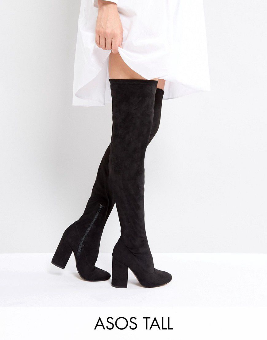 ce0b885ecb3f Asos Katcher Tall Heeled Over The Knee Boots - Asos