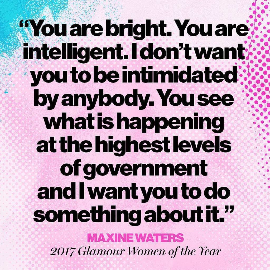 Speak up, take action. Congrats 2017 Woman of the Year @repmaxinewaters! Tap the #linkinbio to read her full story from our December issue. image