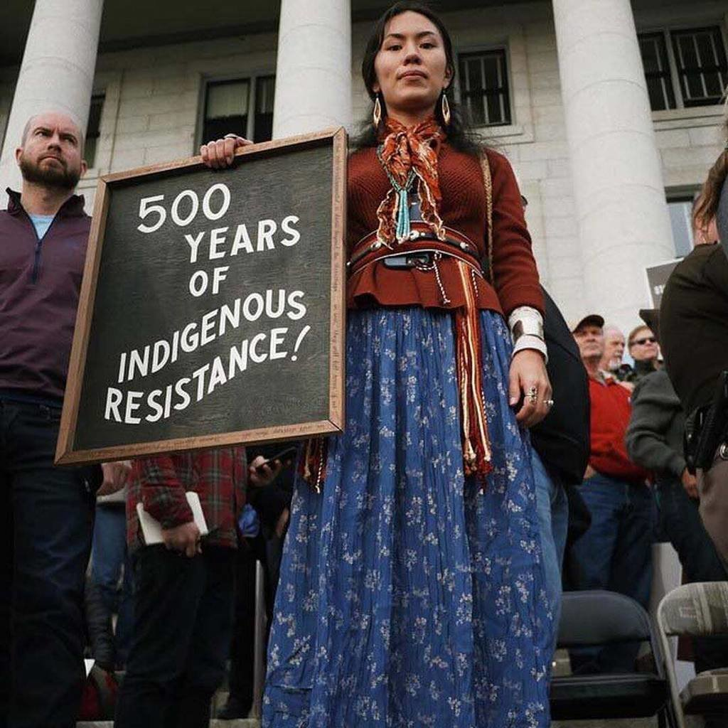 From Women's Marches around the world to the thousands of protestors, including members of the Navajo Nation, who gathered outside the Salt Lake City capitol building to protest Trump's decision to shrink Utah's Bears Ears National Monument, activism appeared to be at an all-time high in 2017, and those who showed up and spoke out dressed symbolically for the occasions. Tap the link in our bio for why protest fashion made the most profound statements of 2017. #regram @toriduhaime image