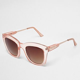 3004687ed46d Pink Clear Frame Glam Sunglasses - River Island | reve