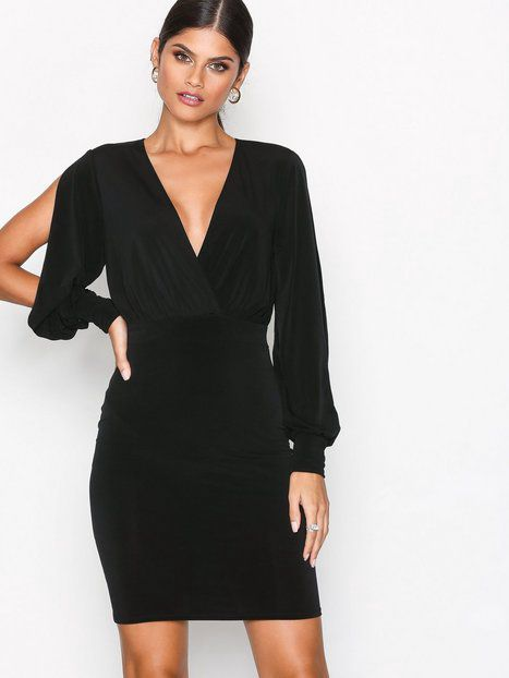 Split Sleeve Dress Fodralklänningar - Nelly.com  c44804f6a0fce