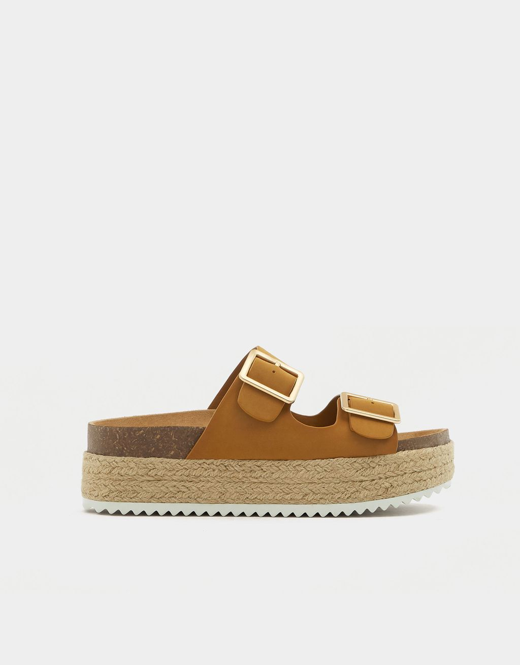 9252581dab8 Mustard Yellow Jute Sandals With Buckles - Pull   Bear