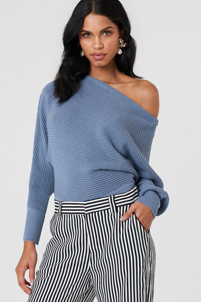 9bb7b3901 Off Shoulder Knitted Sweater - NA-KD