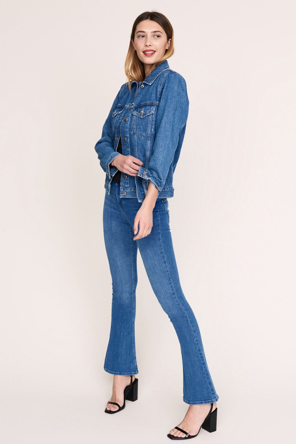 gina tricot bootcut jeans