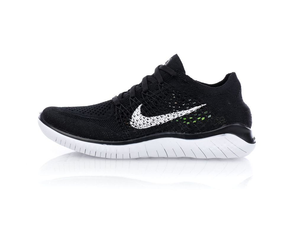 the latest e755e 76a44 Nike - Free Run Flyknit 2018 - Svart Vit - Sportamore   reve