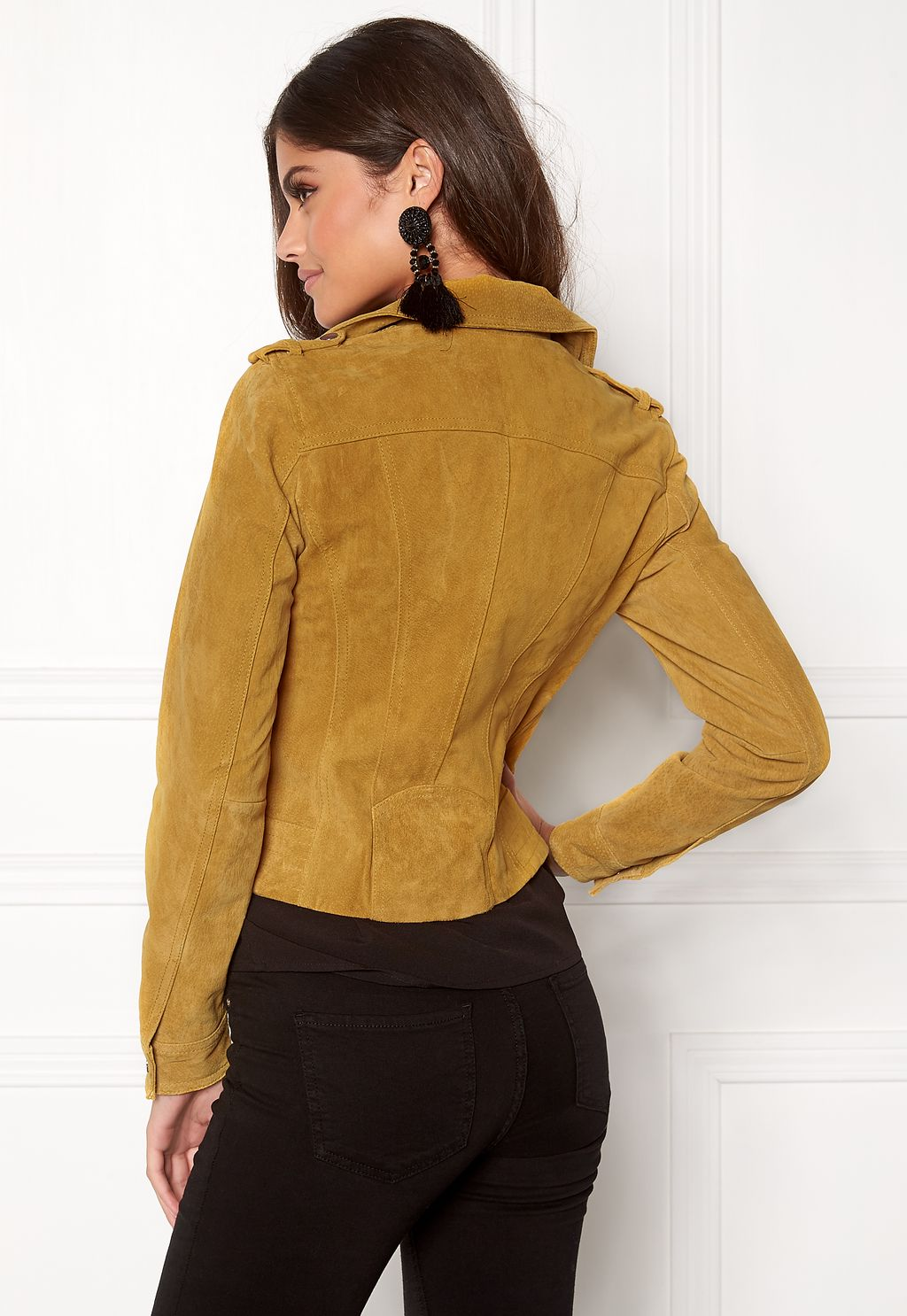 75047b4f Royce Short Suede Jacket Golden Glow - Bubbleroom | reve