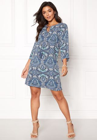 Livia Dress Blue   Patterned - Bubbleroom  e72fd3d22d8eb