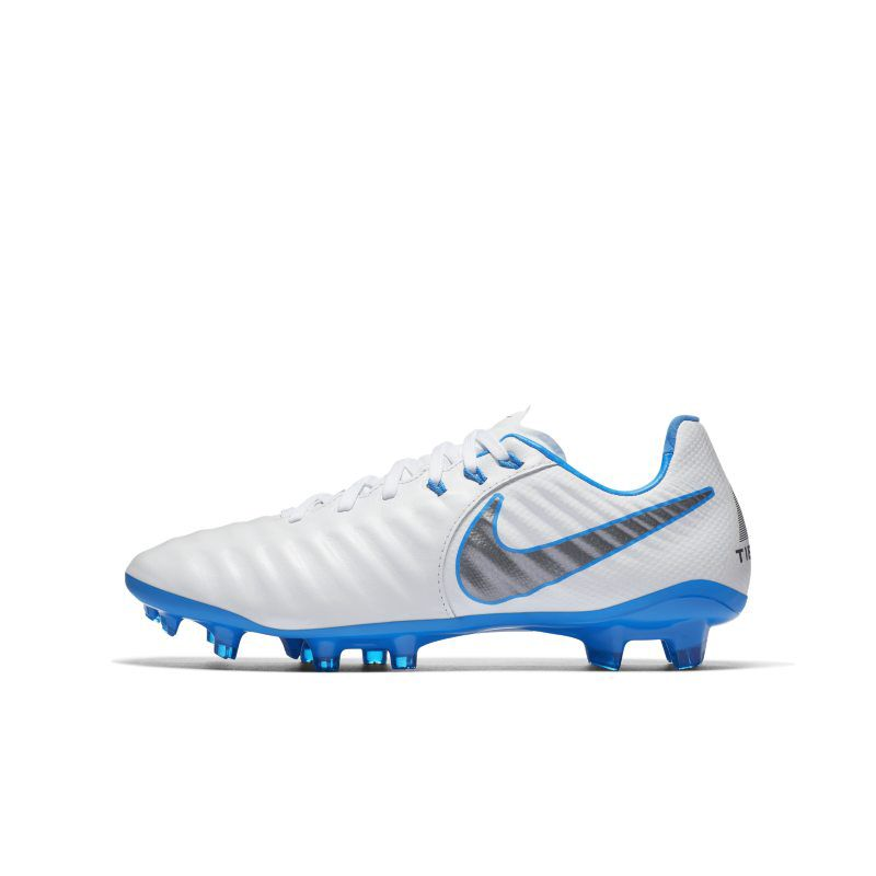 low priced 94438 3cf56 Fotbollssko För Gräs Nike Jr. Tiempo Legend Vii Elite Just Do It Fg För Barn  Ungdom - Vit - Nike   reve