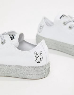 fc835f027aa1 Converse X Miley Cyrus Chuck Taylor All Star Low Trainers White And ...