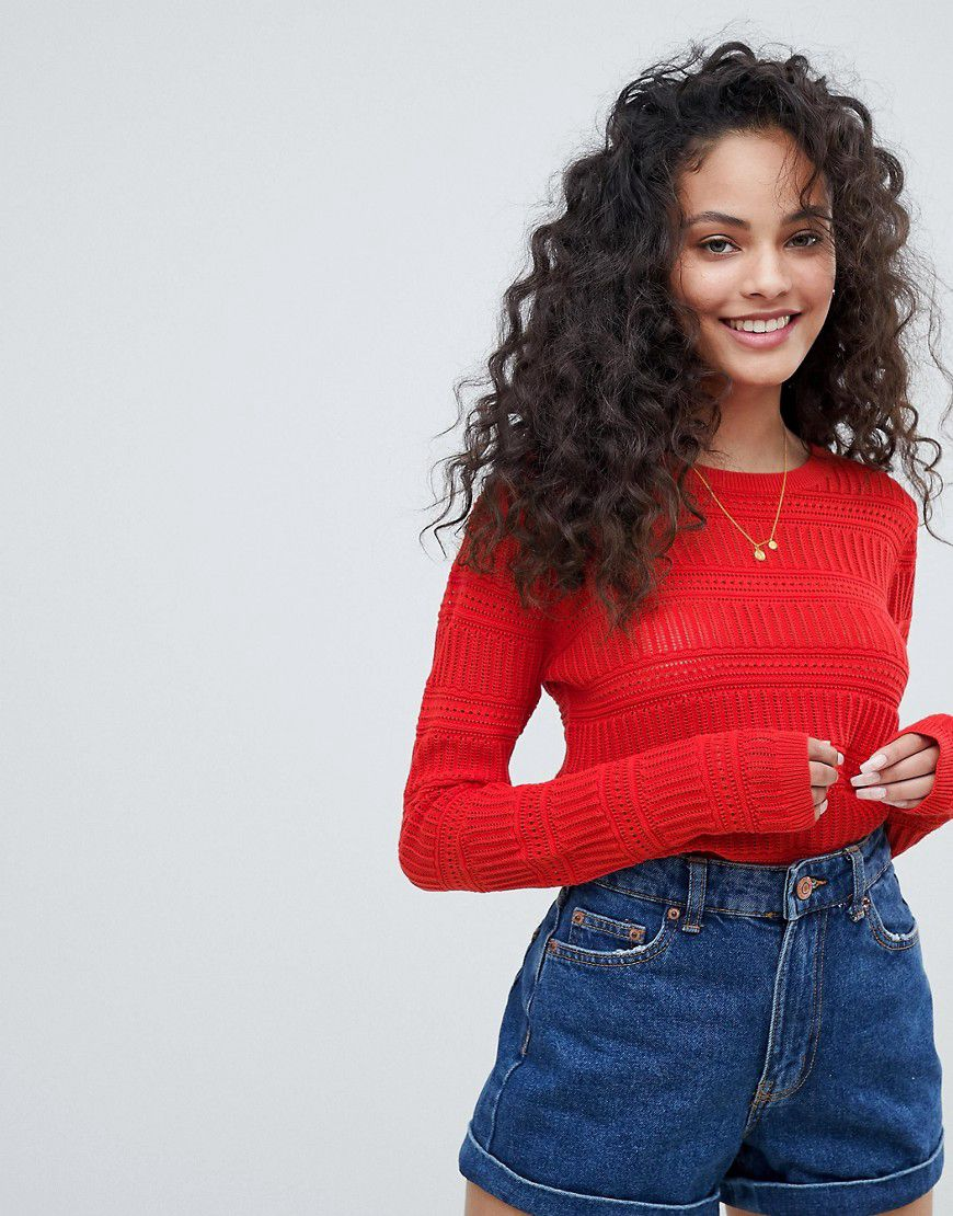 Pimkie Lightweight Patterened Knitted Jumper - Asos  0cadc1a1d8b