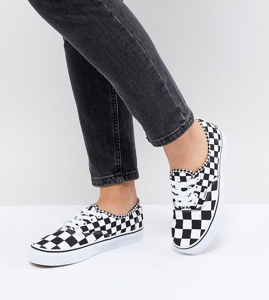 829a70ae4784 Vans Authentic Trainers In Mixed Checkerboard - Asos