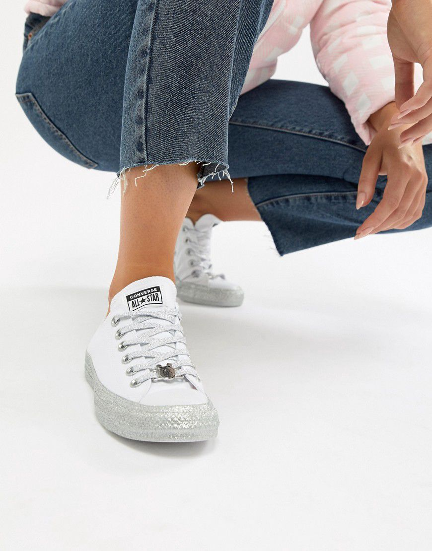 bc7e75a8883 Converse X Miley Cyrus Chuck Taylor All Star Low Trainers White And ...