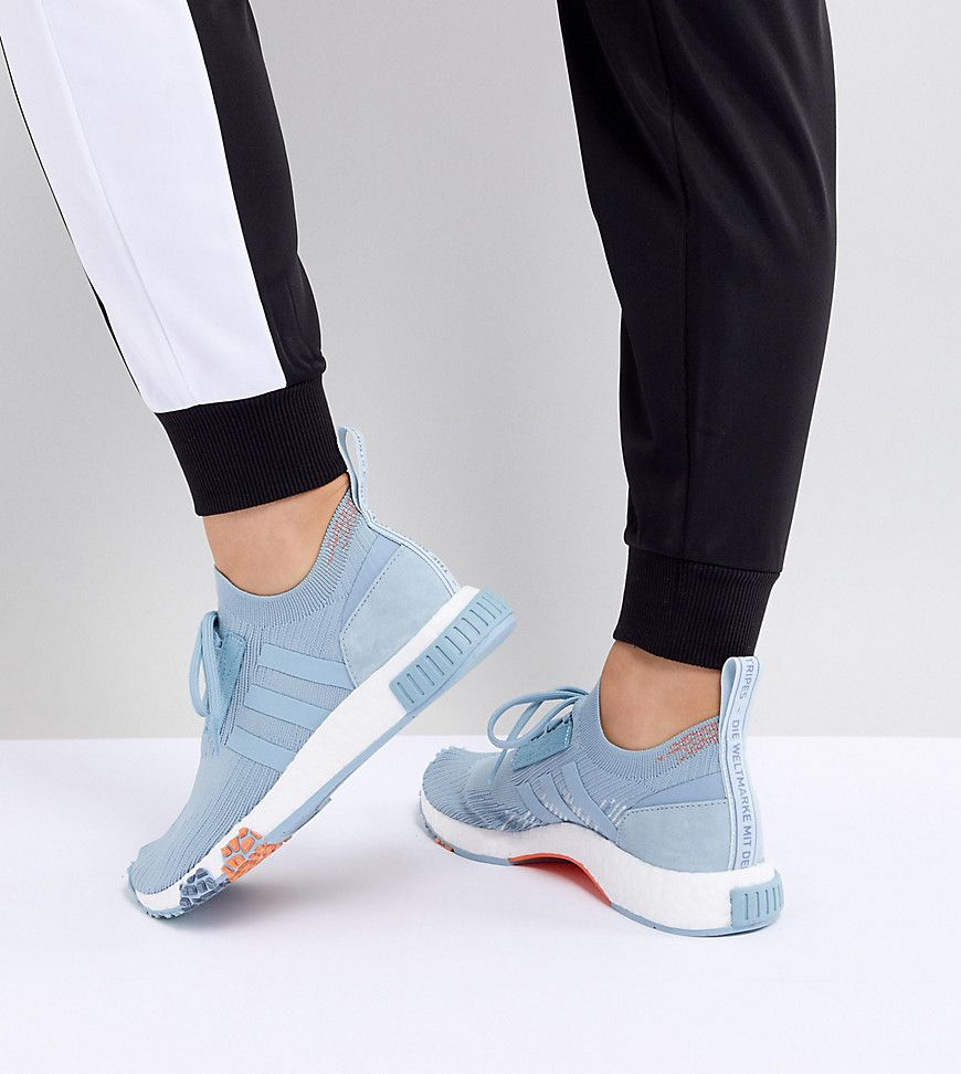 release date f4584 cc96e Adidas Originals Nmd Racer Trainers In Blue - Asos   reve