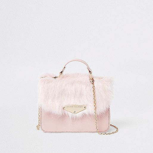 5363b41a63 Girls Faux Fur Cross Body Satchel Bag - River Island