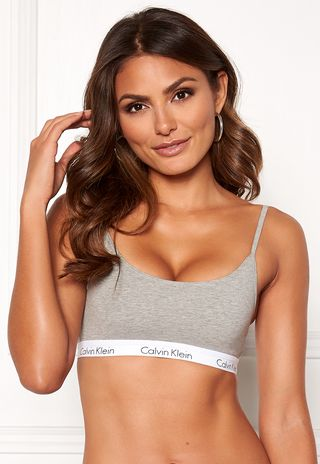 cd19eb626b Ck One Cotton Bralette Grey Heather - Bubbleroom